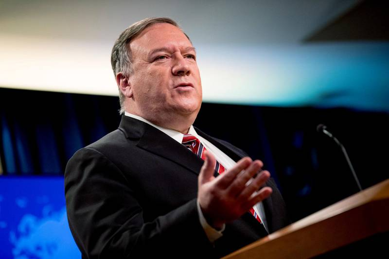 """FILE - In this April 29, 2020, file photo Secretary of State Mike Pompeo speaks at a news conference at the State Department in Washington. Chinese leaders """"intentionally concealed the severity"""" of the pandemic from the world in early January, according to a 4-page, Department of Homeland Security report dated May 1 and obtained by The Associated Press. The revelation comes as the Trump administration has intensified its criticism of China, with Pompeo saying Sunday, May 3, that China has been responsible for the spread of disease in the past and must be held accountable for the outbreak of the current pandemic. (AP Photo/Andrew Harnik, File)"""