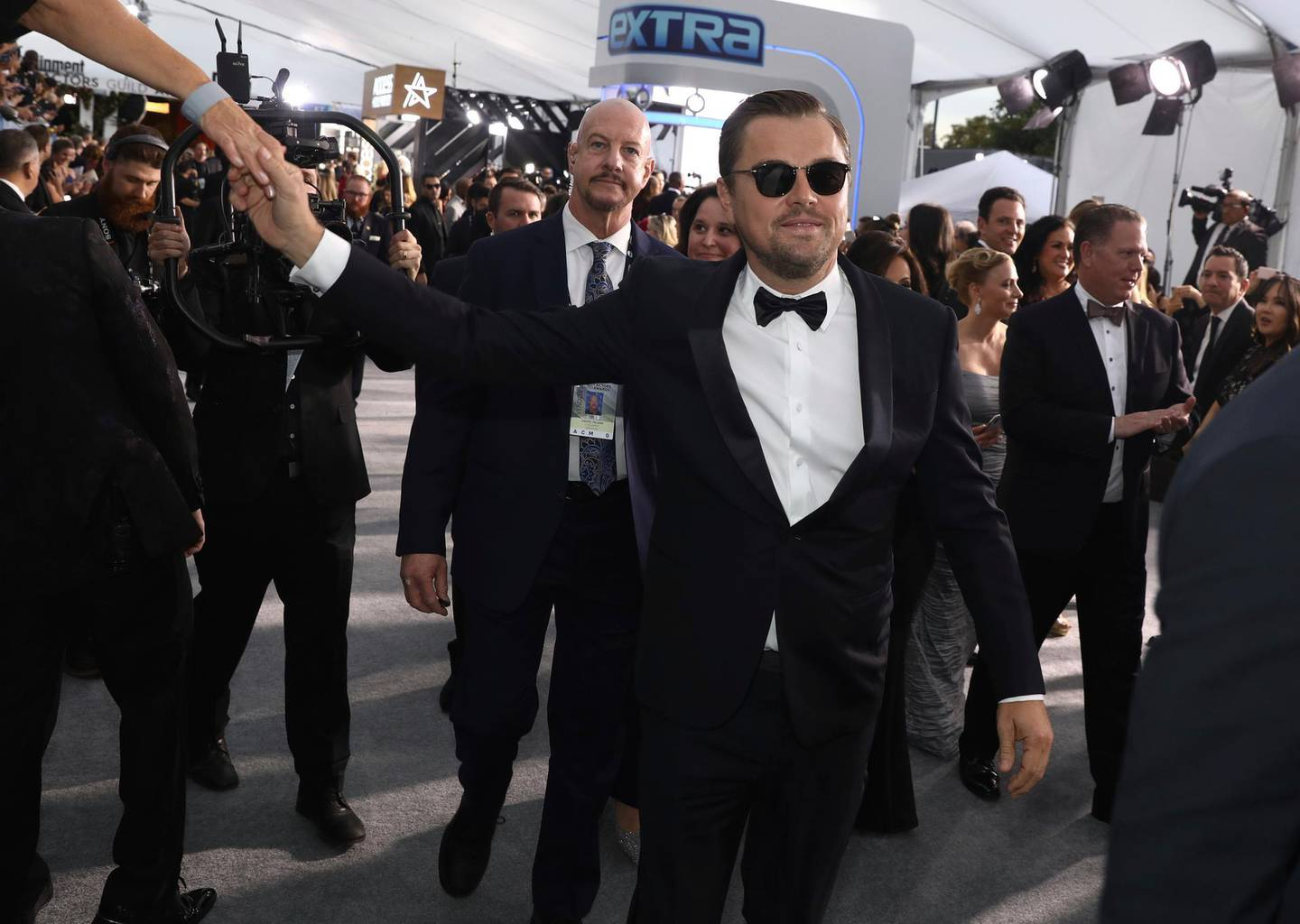 FILE - Leonardo DiCaprio arrives at the 26th annual Screen Actors Guild Awards on Jan. 19, 2020, in Los Angeles. DiCaprio turns 46 on Nov. 11 (Photo by Matt Sayles/Invision/AP, File)