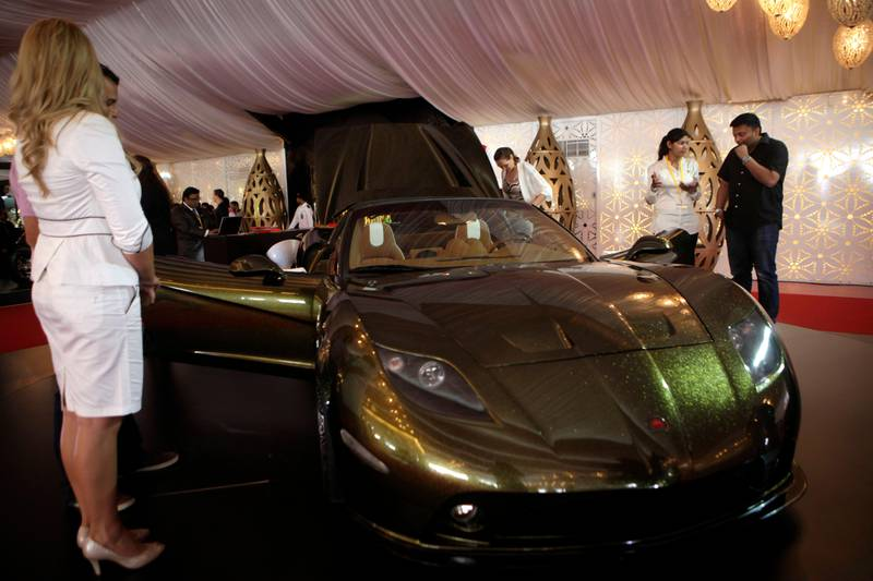 Dr. January 31, 2013 (Dubai) Soleil sports car displayed at the Big Boy Toys 2013 in Dubai January 31, 2013 (Sammy Dallal / The National)