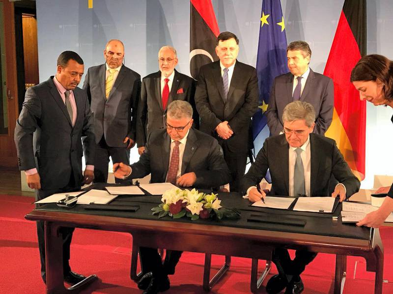 Siemens has signed contracts with the state-owned utility General Electricity Company of Libya (GECOL) to expand Libya's power generation capacity by approximately 1.3 gigawatts (GW). The agreements were signed in Berlin in the presence of Fayez Mustafa al-Sarraj, Chairman of the Presidential Council and Prime Minister of the Government of National Accord of Libya; Mohamed Taha Siala, the Libyan Minister for Foreign Affairs; and Sigmar Gabriel, Germany's Vice Chancellor and Federal Minister of Foreign Affairs. Under these contracts Siemens will build a 650 MW open cycle power plant in Misrata, equipped with two F-class gas turbines, and a 690 MW open cycle power plant in Tripoli West, equipped with four E class gas turbines. The total volume of EPC contracts, including long-term service agreements, is in the range of 700 million euros. Courtesy Siemens AG
