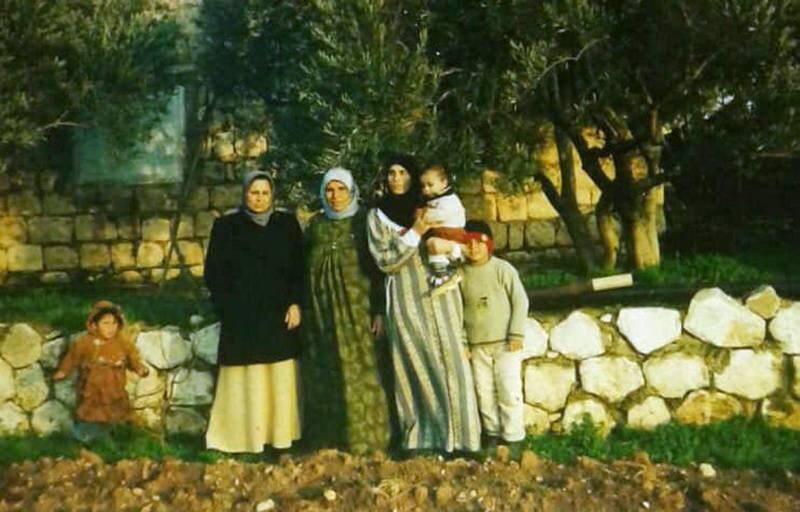The wives of Mohammed and Abed Jomaa with their children in Idlib. Courtesy Mohammed Jomaa