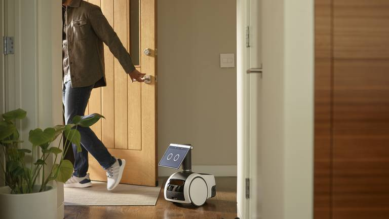 An image that illustrates this article Amazon unveils robot that can follow you around the home