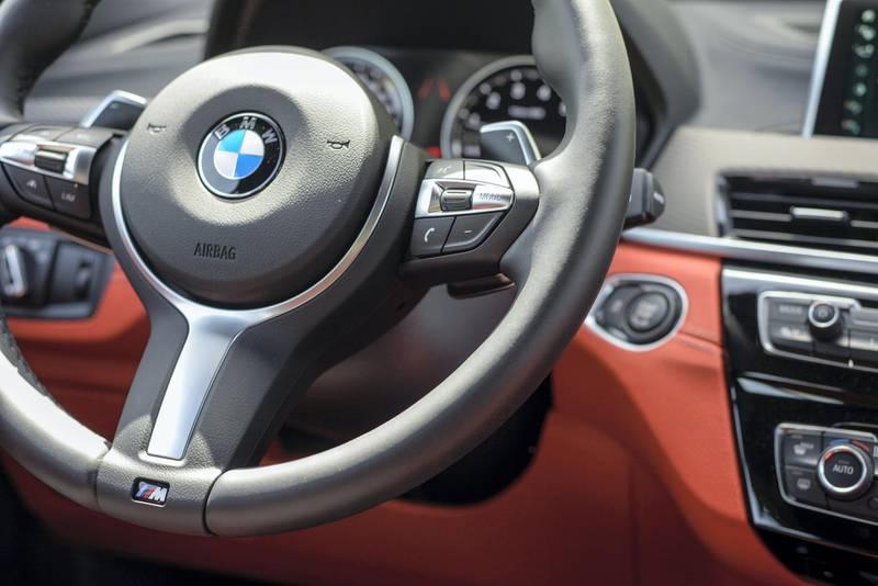 Abu Dhabi, United Arab Emirates - The interior of BMW X2 at Mina Port on April 29, 2018. (Khushnum Bhandari/ The National)