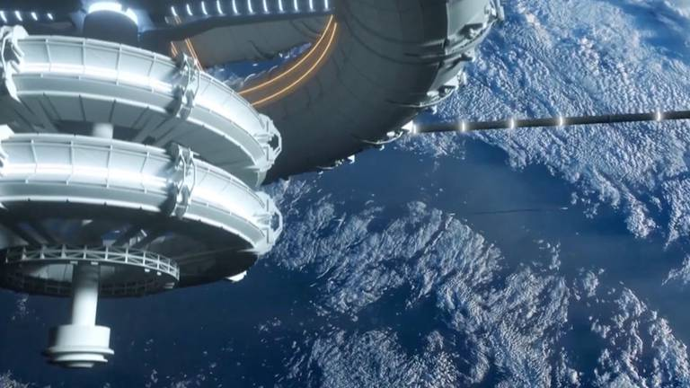 An image that illustrates this article String-rail sky pods in space - in pictures