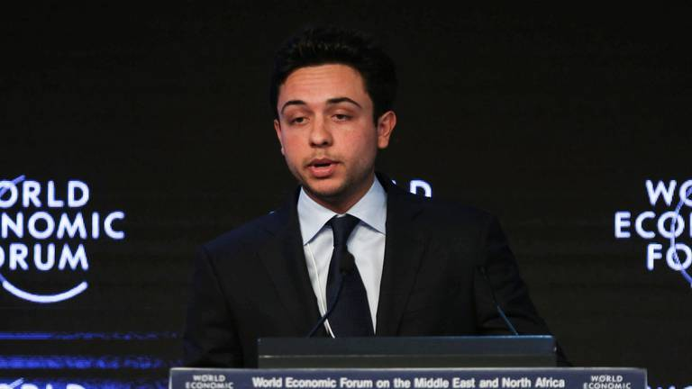 An image that illustrates this article Jordan's Crown Prince Hussein tests positive for Covid-19