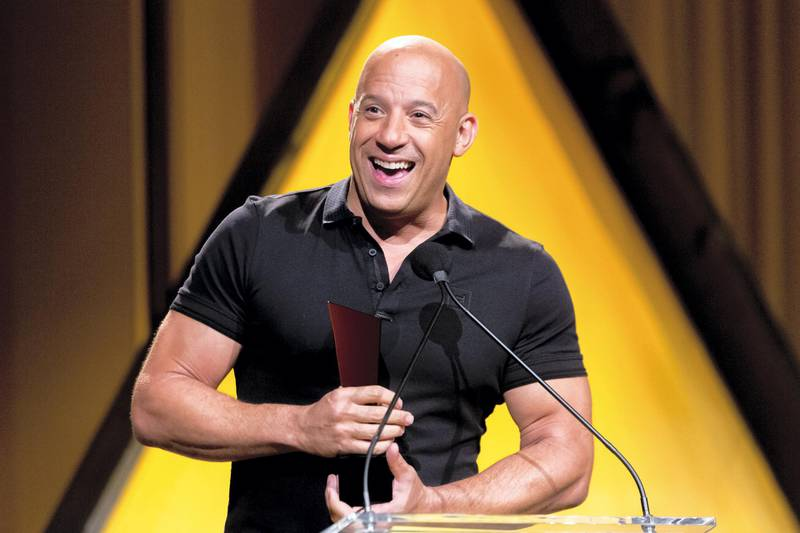 HOLLYWOOD, CALIFORNIA - JUNE 24:  Actor Vin Diesel presents an award at the NALIP 2017 Latino Media Awards at The Ray Dolby Ballroom at Hollywood & Highland Center on June 24, 2017 in Hollywood, California.  (Photo by Greg Doherty/Getty Images)