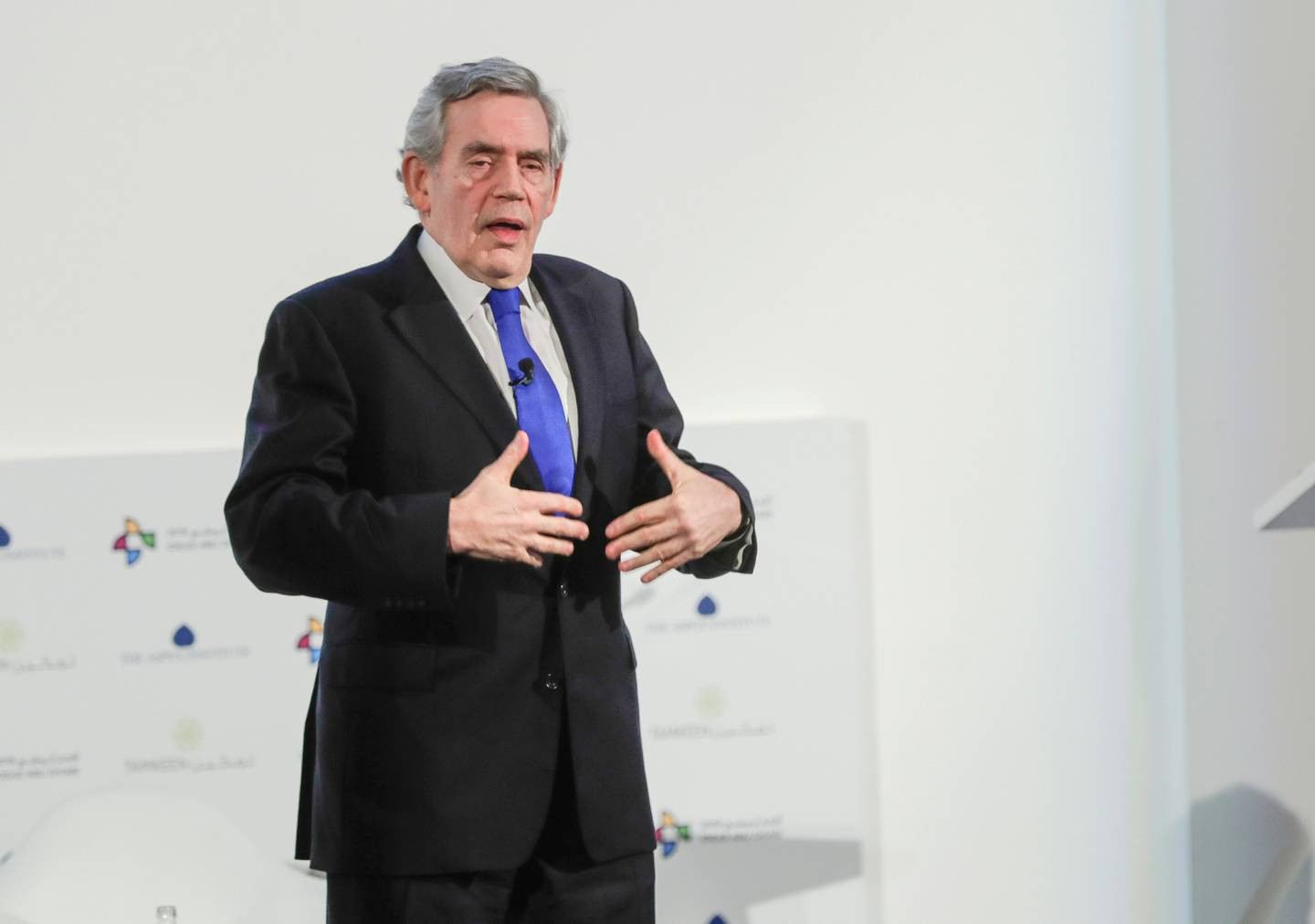 Abu Dhabi, United Arab Emirates, March 27, 2019.  --- IDEAS Abu Dhabi Forum.-- Rt. Hon. Gordon Brown – UN Special Envoy for Global Education and Former Prime Minister of the United KingdomVictor Besa/The NationalSection:  NAReporter:  Dan Sanderson