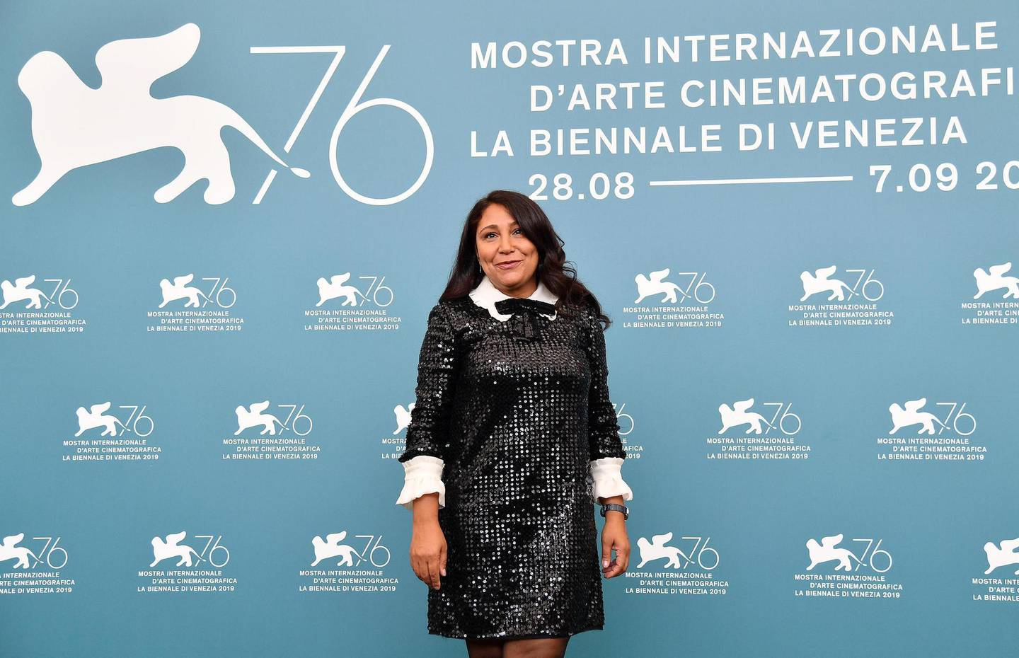 epa07801100 Saudi Arabian director Haifaa al-Mansour poses at a photocall for 'The Perfect Candidate' during the 76th annual Venice International Film Festival, in Venice, Italy, 29 August 2019. The movie is presented in the official competition 'Venezia 76' at the festival running from 28 August to 07 September.  EPA/ETTORE FERRARI