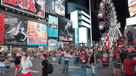 A 30-metre-high Ferris wheel is opening in New York's Times Square