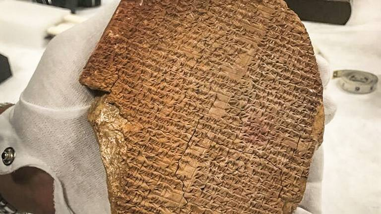An image that illustrates this article 3,500-year-old Gilgamesh tablet to return to Iraq