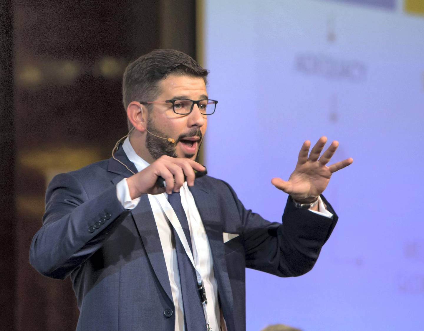 DUBAI, UNITED ARAB EMIRATES - Mazen Abukhaterm Consultant and Actuary, Mercer at the 1st Workers Incentives and End of Service Benefits Conference 2019, Intercontinental Hotel, Dubai Festival City.  Leslie Pableo for The National for Alice Hines