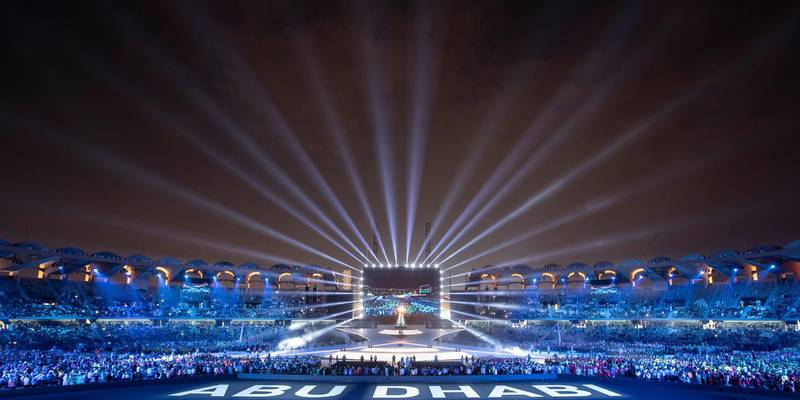 ABU DHABI, UNITED ARAB EMIRATES - March 21, 2019: The closing ceremony of the Special Olympics World Games Abu Dhabi 2019, at Zayed Sports Stadium.  ( Ryan Carter / Ministry of Presidential Affairs )?
