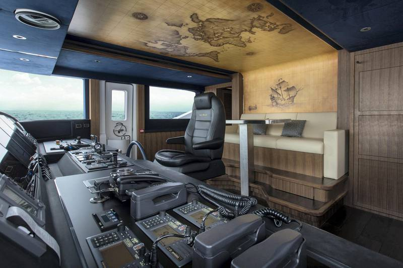 Majesty 140 - Interior - Wheel House. Courtsey: Seven Media