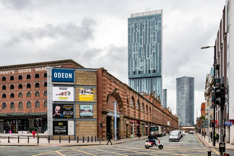 Feature on Manchester City FC at the Etihad complex and Manchester city centre.PIC shows Deansgate.