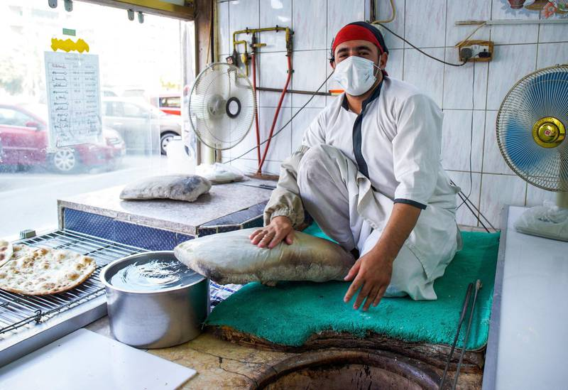 Abu Dhabi, United Arab Emirates, September 18, 2020.  Abdul Rahman has been working  at Naser Bader Bakery along Al Falah Street, Abu Dhabi for almost five years now.Victor Besa /The NationalSection:  NA/Standalone.