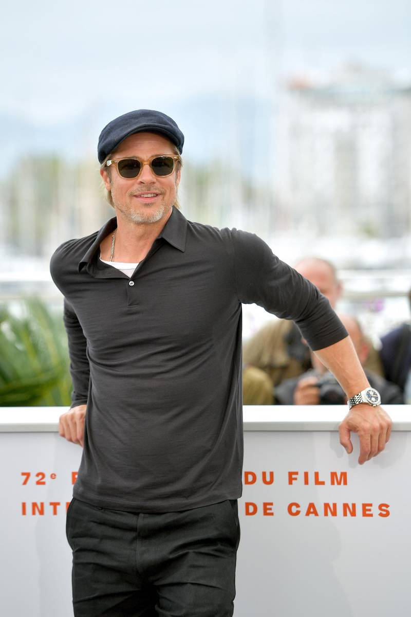 """CANNES, FRANCE - MAY 22: Brad Pitt attends thephotocall for """"Once Upon A Time In Hollywood""""  during the 72nd annual Cannes Film Festival on May 22, 2019 in Cannes, France. (Photo by Matt Winkelmeyer/Getty Images)"""