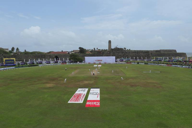 GALLE, SRI LANKA - AUGUST 15: The Galle International Stadium is pictured during the second day of First Test match between Sri Lanka and New Zealand at Galle International Stadium on August 15, 2019 in Galle, Sri Lanka. (Photo by Buddhika Weerasinghe/Getty Images)