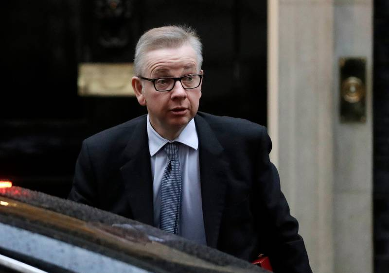 """FILE - In this Thursday, Jan. 17, 2019 file photo, Britain's Environment Secretary Michael Gove arrives at Downing Street. London. British Environment Secretary Michael Gove has on Friday, June 7 admitted using cocaine on """"several occasions"""" two decades ago, as Conservative Party leadership hopefuls rush to admit past sins and avoid any surprises during what is expected to be a heated contest. Gove is the latest candidate in the race to replace Prime Minister Theresa May to acknowledge using banned substances. (AP Photo/Matt Dunham, File)"""