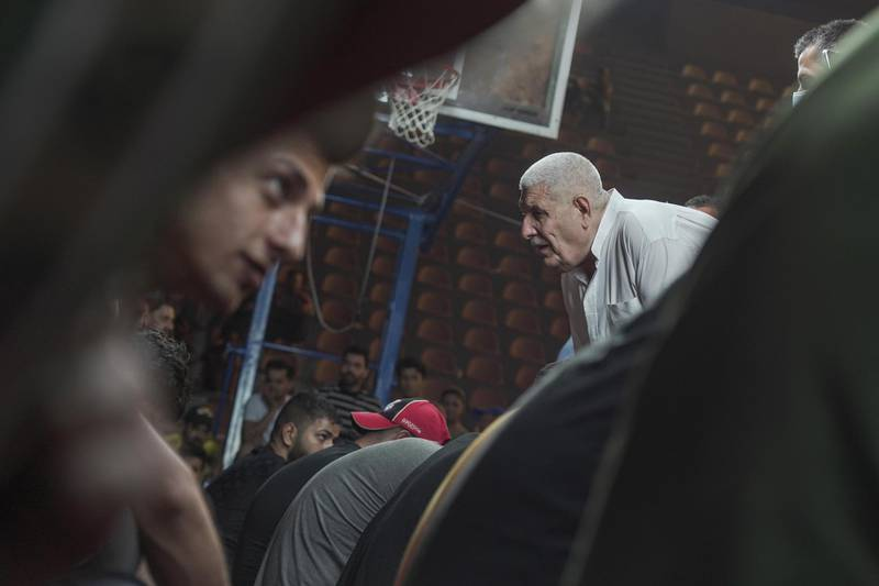 Jasim Alaswad trying to find the ring during the traditional ring tournament in Baghdad Iraq. Haider Husseini / The National