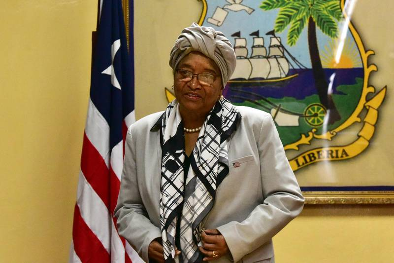 A picture taken on October 12, 2017 in Monrovia shows Liberia's President Ellen Johnson Sirleaf, Africa's first elected female head of state, stepping down after a maximum of two terms. (Photo by ISSOUF SANOGO / AFP)