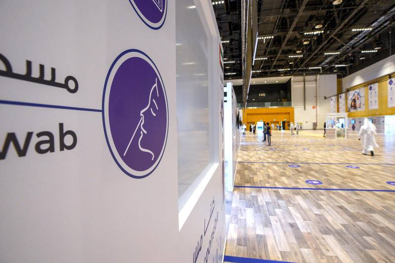 Abu Dhabi, United Arab Emirates, June 4, 2020.     The new Covid-19 Prime Assessment Center at ADNEC.Victor Besa  / The NationalSection:  NAReporter:  Shireena Al Nowais