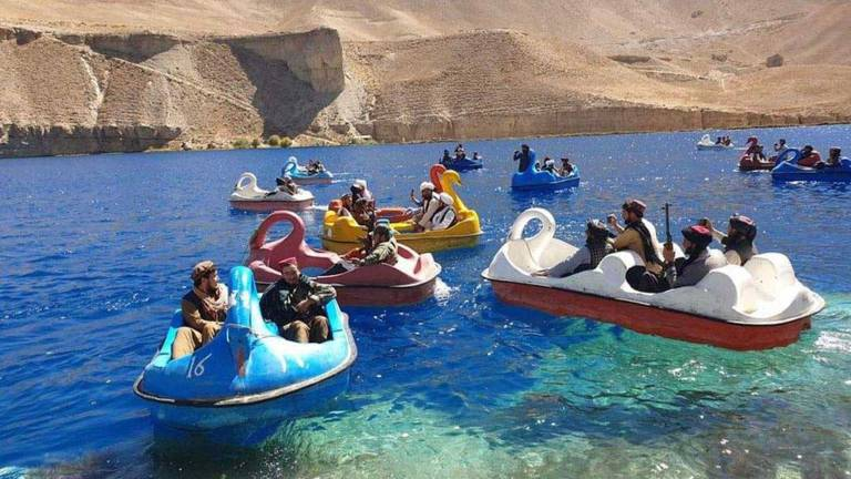 An image that illustrates this article Taliban boat ride