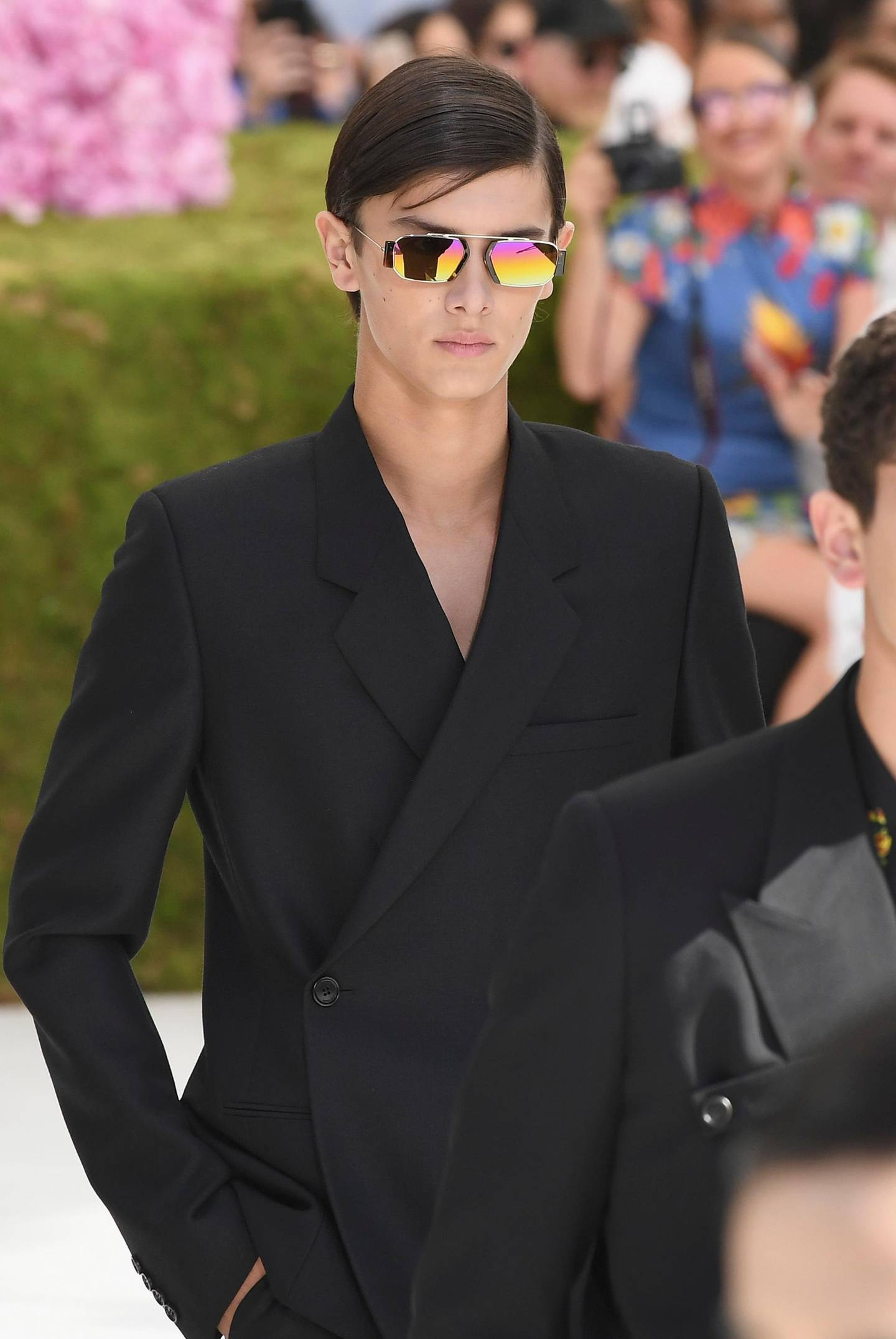 PARIS, FRANCE - JUNE 23:  Prince Nikolai of Denmark walks the runway during the Dior Homme Menswear Spring/Summer 2019 show as part of Paris Fashion Week on June 23, 2018 in Paris, France.  (Photo by Pascal Le Segretain/Getty Images)