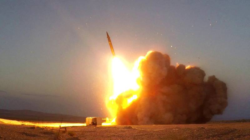 A missile unveiled by Iran is launched in an unknown location in Iran in this picture received by Reuters on August 20, 2020. WANA (West Asia News Agency) via REUTERS ATTENTION EDITORS - THIS IMAGE HAS BEEN SUPPLIED BY A THIRD PARTY.     TPX IMAGES OF THE DAY