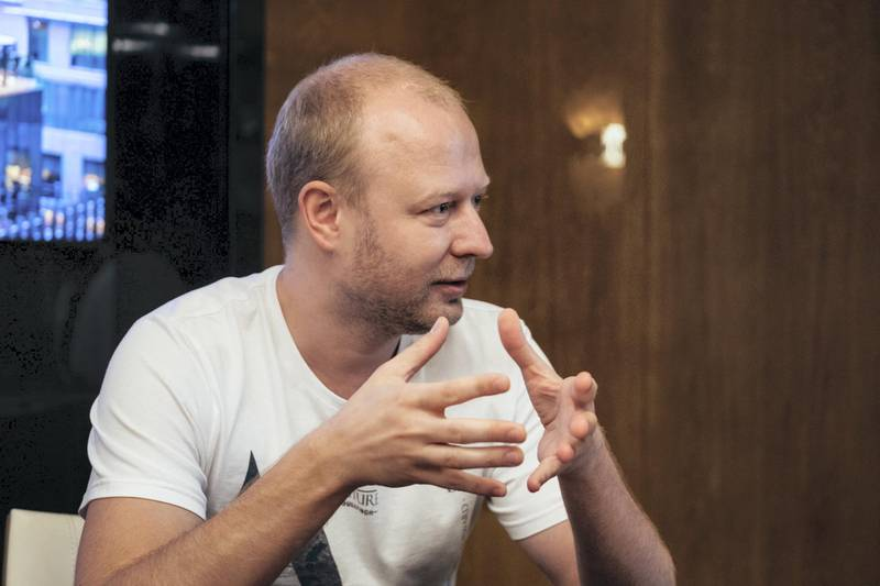 18.03.18 Interview with Valery Valikov, founder and CEO of The Bitfury Group ( a Amsterdam-based blockchain company) At the Four seasons, DIFC, Dubai. Anna Nielsen For The National