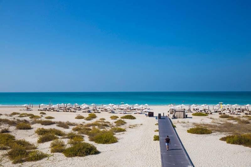United Arab Emirates, Abu Dhabi, United Arab Emirates, Abu Dhabi, Saadiyat Island, Saadiyat beach. Getty Images