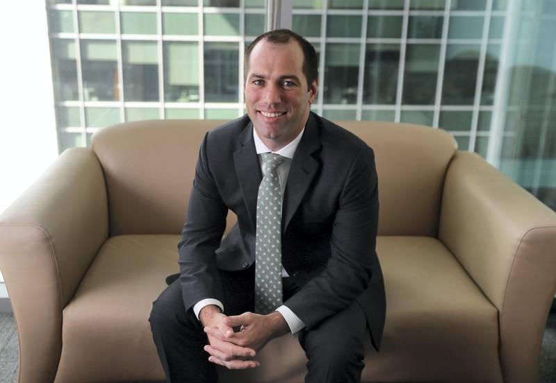 Dubai, United Arab Emirates - January 10, 2019: Anthony Taylor, Head of Real Estate at Emirates NBD Asset Management. Thursday, January 10th, 2019 at DIFC, Dubai. Chris Whiteoak/The National