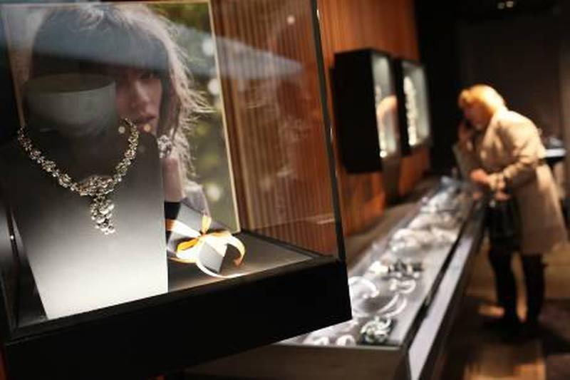 NEW YORK, NY - APRIL 12:  Watches and jewelry are displayed at a Georg Jensen store during a reception for Madison Avenue Watch Week on April 12, 2011 in New York City. The week-long celebration of 19 boutiques selling luxury time pieces along Madison Avenue includes new watch previews, artist talks and evening receptions. Following the global recession which dampened luxury goods sales, the recent economic rebound has witnessed strong growth in luxury items with retailer Tiffany & Co. reporting a gain in global sales of 14 percent to $3.1 billion in 2010.  (Photo by Spencer Platt/Getty Images)