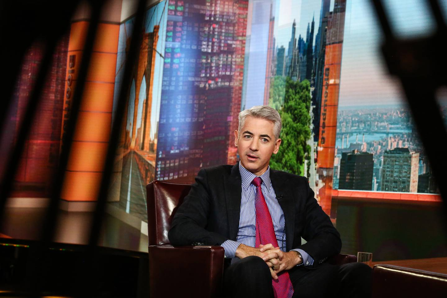 Bill Ackman, chief executive officer of Pershing Square Capital Management LP, speaks during a Bloomberg Television interview in New York, U.S., on Wednesday, Nov. 1, 2017. Ackman discussed his proxy fight at Automatic Data Processing. Photographer: Christopher Goodney/Bloomberg