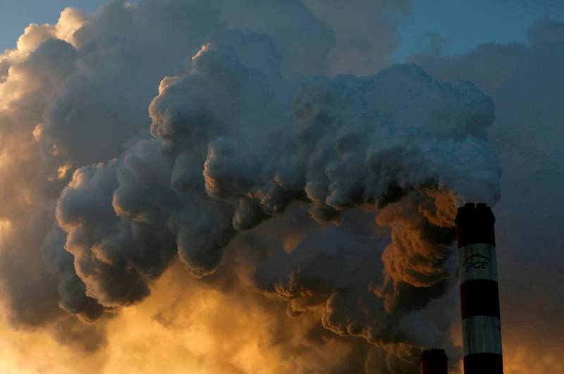 FILE PHOTO: Smoke and steam billow from the Belchatow Power Station, Europe's largest coal-fired power plant, near Belchatow, Poland, November 28, 2018. REUTERS/Kacper Pempel//File Photo