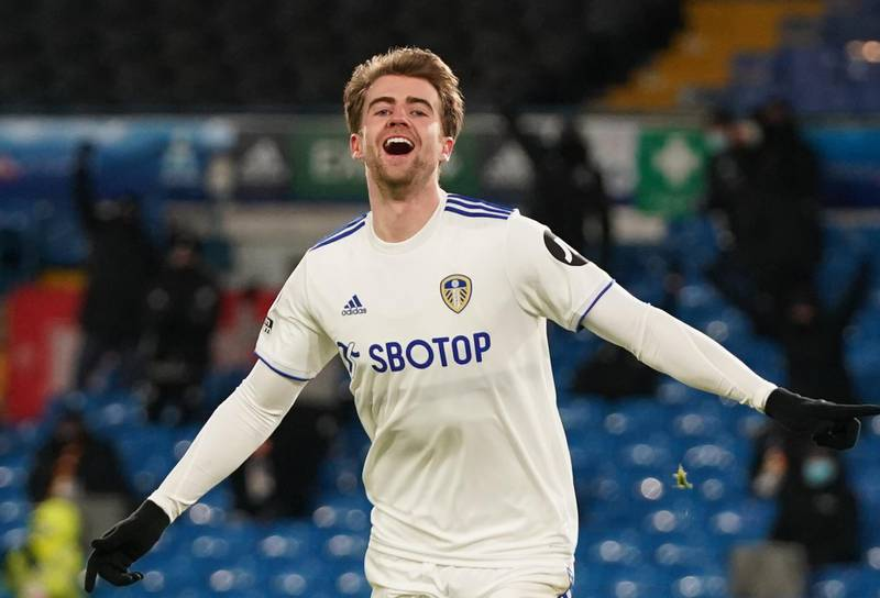 Soccer Football - Premier League - Leeds United v Crystal Palace - Elland Road, Leeds, Britain - February 8, 2021 Leeds United's Patrick Bamford celebrates scoring their second goal Pool via REUTERS/Jon Super EDITORIAL USE ONLY. No use with unauthorized audio, video, data, fixture lists, club/league logos or 'live' services. Online in-match use limited to 75 images, no video emulation. No use in betting, games or single club /league/player publications.  Please contact your account representative for further details.