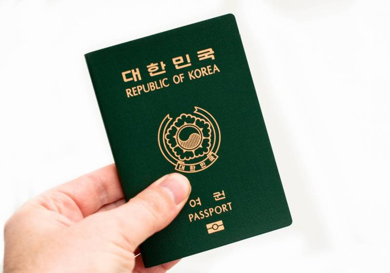 South Korean passport. (Photo by: Education Images/Universal Images Group via Getty Images)