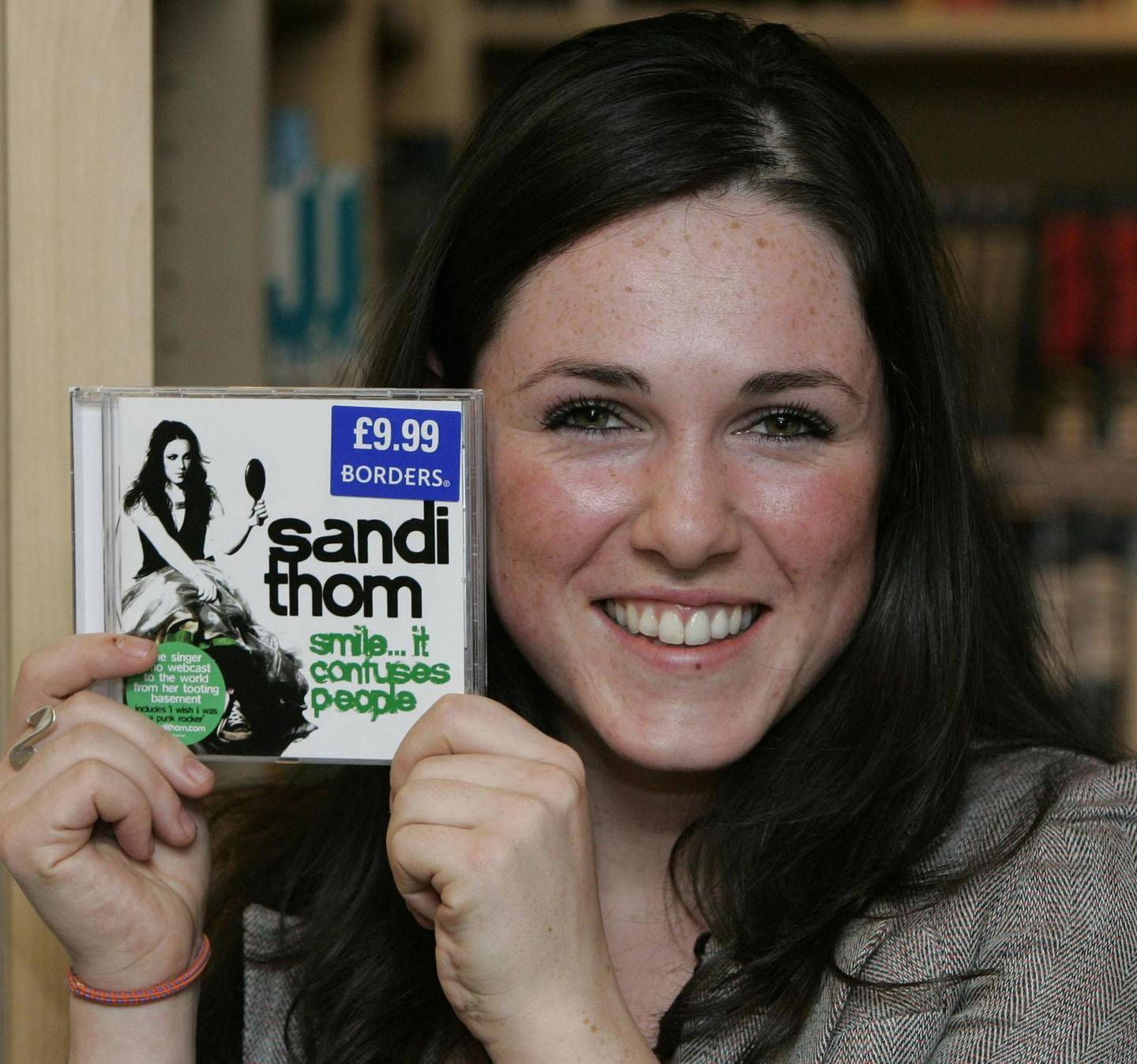 Music Artist Sandi Thom with her new album at Borders music store in Glasgow, where she performed her new single which is the new UK number.   (Photo by Andrew Milligan - PA Images/PA Images via Getty Images)