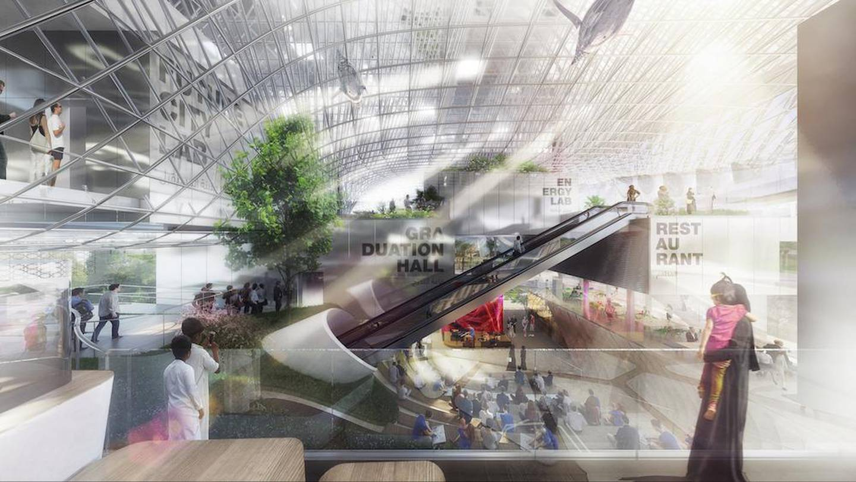 Der Deutsche Pavillon CAMPUS GERMANY: Atrium/The German Pavilion CAMPUS GERMANY: atrium. Courtesy Koelnmesse GmbH, / Expo 2020 Dubai