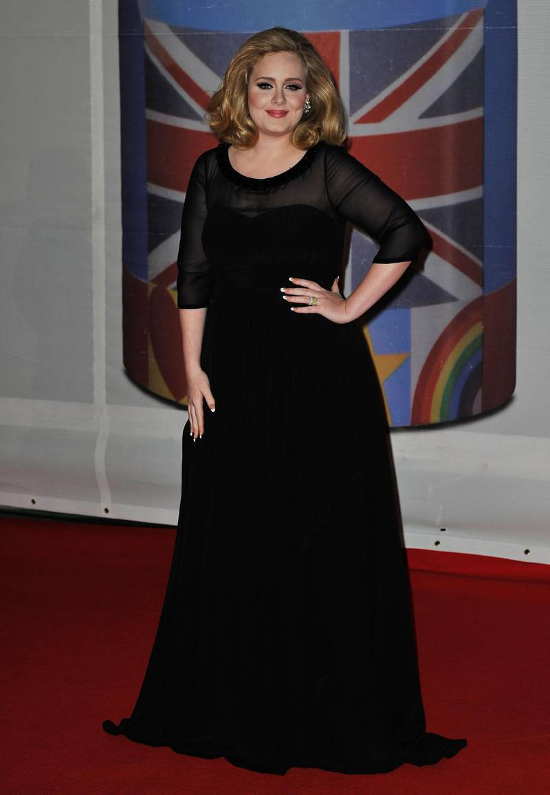 LONDON, ENGLAND - FEBRUARY 21:  Singer Adele attends The BRIT Awards 2012 at the O2 Arena on February 21, 2012 in London, England.  (Photo by Gareth Cattermole/Getty Images)