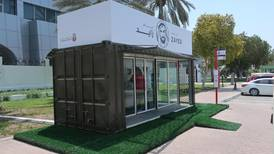 Abu Dhabi transforms former shipping containers into bus stops