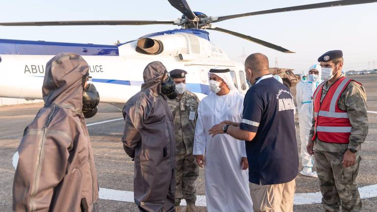 An image that illustrates this article International emergency exercise at Barakah nuclear power plant