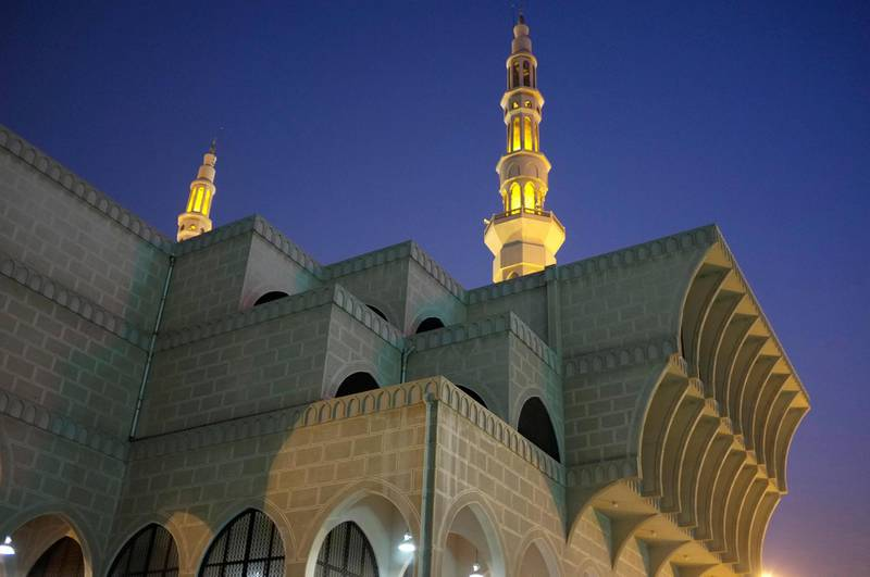 August 08. King Faisal Mosque in Sharjah. August 08, Sharjah. United Arab Emirates (Photo: Antonie Robertson/The National)