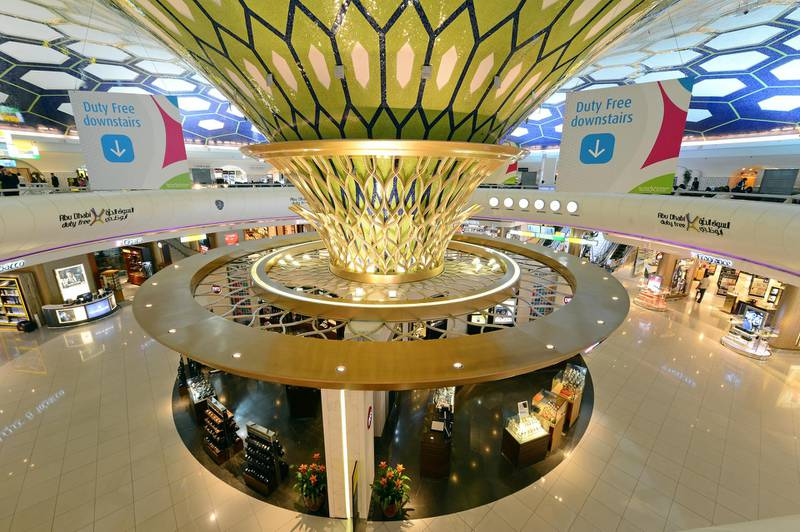terminal 1 -- -- Handout photos for Abu Dhabi Airport. Received August 2015 for Business story.  CREDIT: Courtesy Abu Dhabi Airports *** Local Caption ***  terminal 1_interior_2.jpg