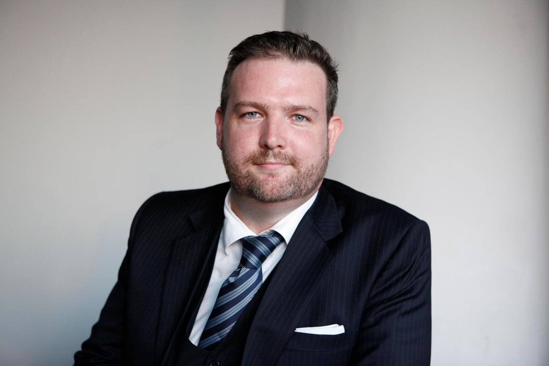 September 21. Toby Simpson, managing director of the Gulf Recruitment Group. September 21, Dubai, United Arab Emirates (Photo: Antonie Robertson/The National)