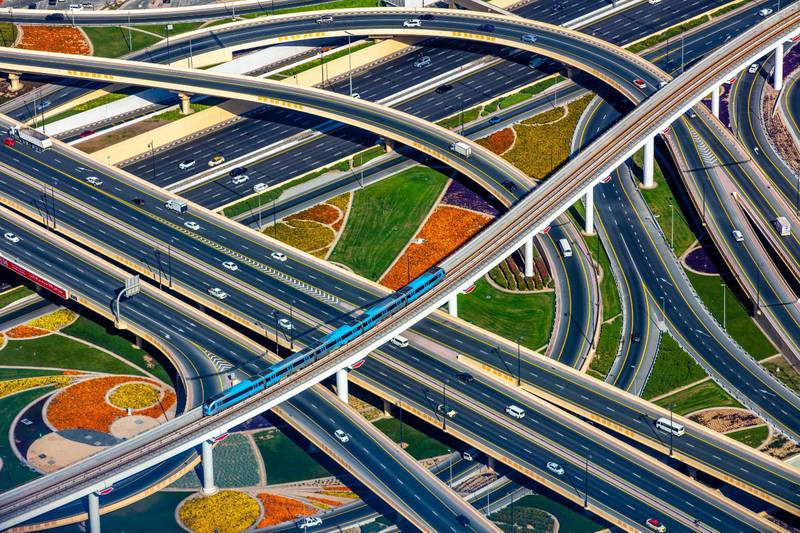 "GCCA ""Concrete in Life"" global photography competition -Infrastructure Profesisonal. WINNER: Nishar Mohammed@nisharmohammedSheikh Zayed Road DubaiCourtesy GCCA"