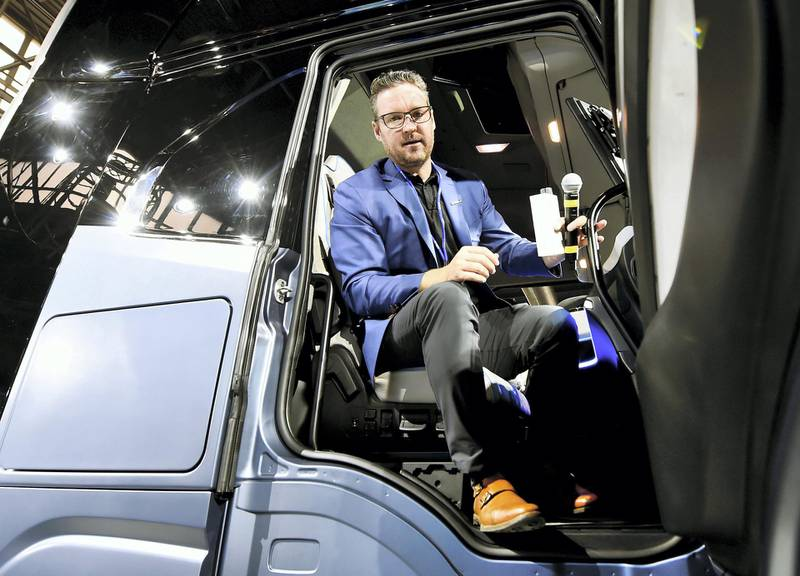 CEO and founder of U.S. Nikola Trevor Milton attends a news conference held to presents its new full-electric and hydrogen fuel-cell battery trucks in partnership with U.S. Nikola, at an event in Turin, Italy, December 3, 2019. REUTERS/Massimo Pinca