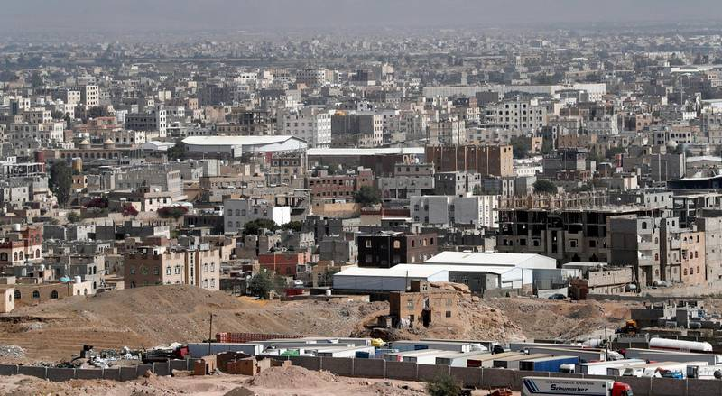 epa08068891 A general view shows the outskirts of the capital from the top of a mountain, in Sanaa, Yemen, 13 December 2019. Yemen has been in the grip of a power struggle since late 2014 between the Houthi rebels and the Saudi-backed government, which sparked a full-blown armed conflict in March 2015 when the Saudi-led military coalition launched an airstrike campaign against the Houthis.  EPA/YAHYA ARHAB