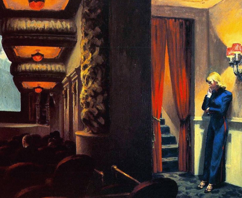 E033A3 Edward Hopper New York Movie. Alamy