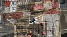 Beirut Narratives: tapestries hung around the city ensure no one forgets blast victims