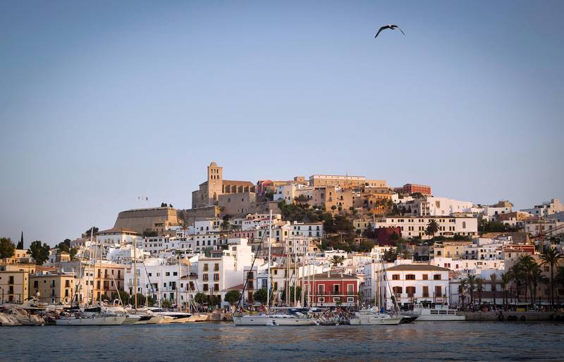 Picture shows a general view of the city of Ibiza on July 9, 2015. AFP PHOTO / JAIME REINA (Photo by JAIME REINA / AFP)